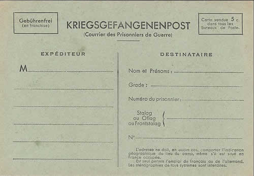 Carte postale officielle