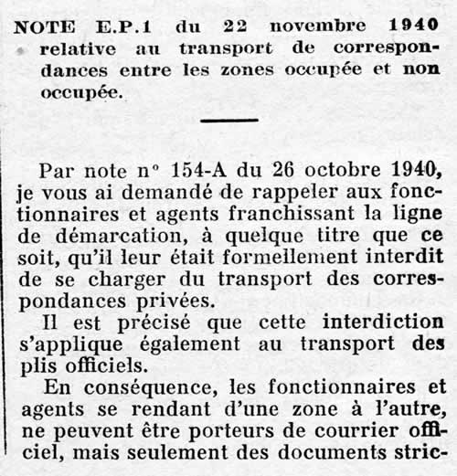 Transport frauduleux de courrier