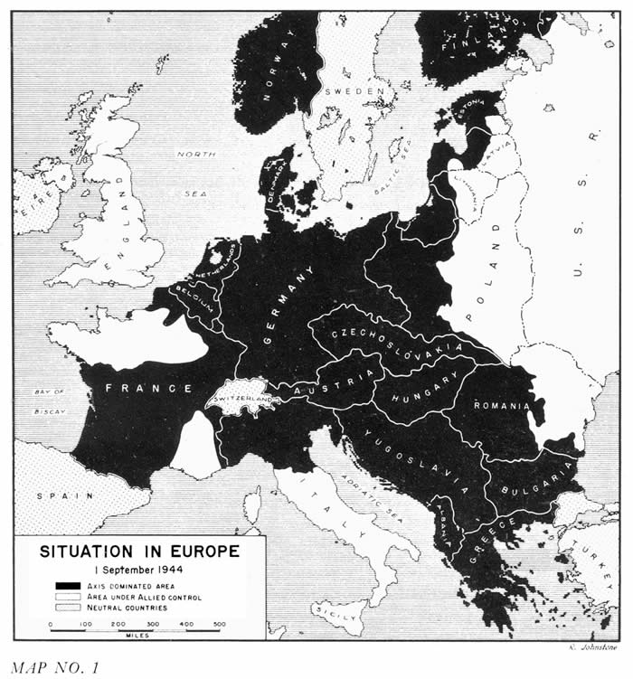 Situation en Europe au 1er septembre 1944