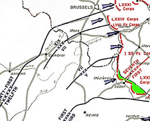 Situation de la First Army au 5/9/44