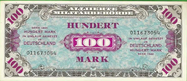 Billet americain 100 mark