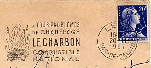 Charbon combustible national Lens