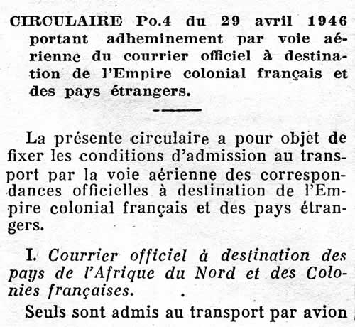Courrier Officiel
