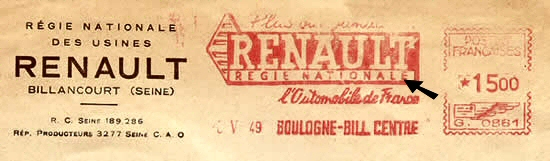 EMA régie Nationale Renault