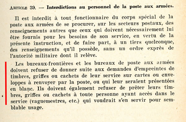 Interdiction des  oblitérations de complaisance