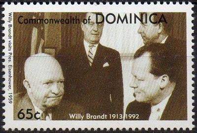 Rencontre Eisenhower Willy Btandt 1959