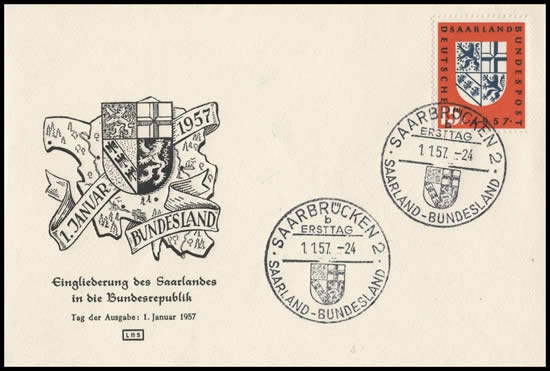 FDC cachet normal 1-1-57