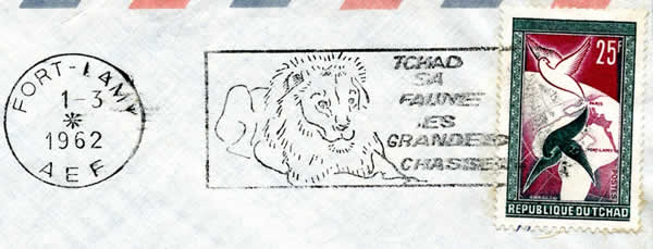 Flamme lion couronne AEF en 1962