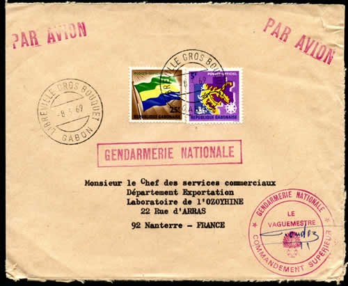 Courrier officiel Gendarmerie
