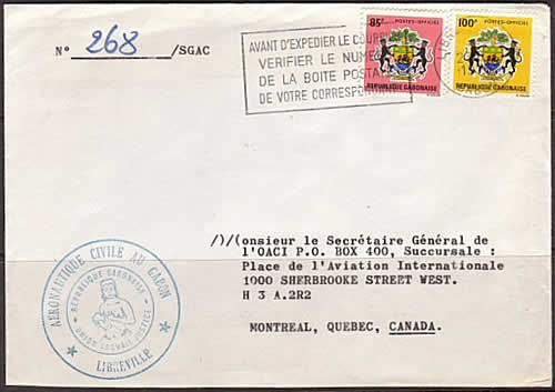 Courrier officiel timbres armoiries
