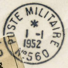 Timbre-à-date Poste militaire 560 type 1
