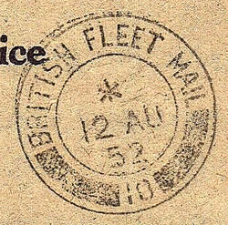 Cachet British Fleet mail Malte
