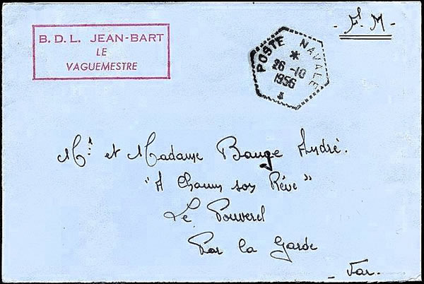 Courrier du Jean-Bart Suez