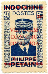 40cts Pétain outremer