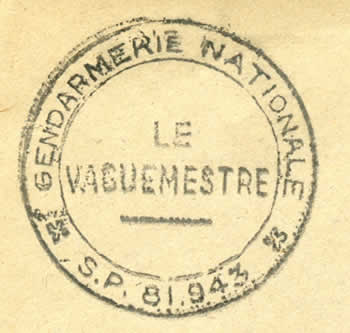 Vaguemestre Gendarmerie Nationale